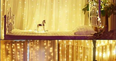Window Curtain Icicle Fairy String Lights 300 LED 8 Modes with Remote Control, Warm White