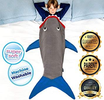 Shark Blanket Tail For Kids, Super Soft and Comfy All Seasons Sleeping Bag Sofa Living Room Quilt, Great Birthday Christmas and for Kids