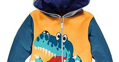 Baby Boys Zip Up Hoodie Dinosaur Sweatshirt Coat Jacket Zipper Tops