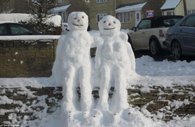 These Snowmen Are Inappropriate