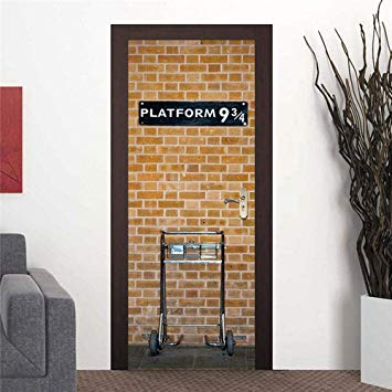 Door Stickers For Interior Doors, Imitation Brick Waterproof Self Adhesive 3D