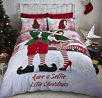 Selfie Elfie Easy Care Double Duvet Set