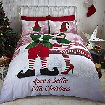 Selfie Elfie Easy Care Double Duvet Set