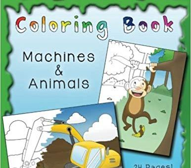 Blippi Coloring Book: Animals & Machines