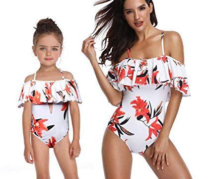 Matching Mummy and Daughter Swimwear