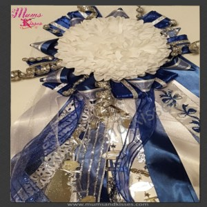 Blue homecoming mum