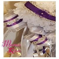 Triple homecoming mum purple