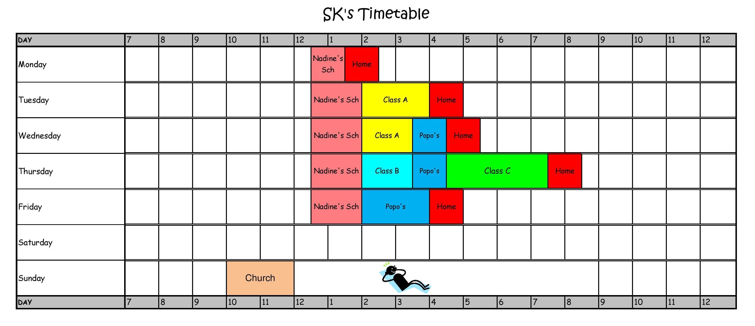 Primary School Kids Schedules