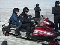 snow-mobiling in Iceland