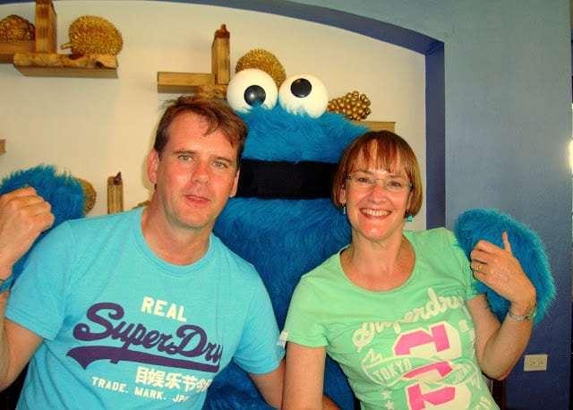 Meeting Cookie Monster, Beaches Ocho Rios