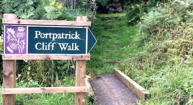 Portpatrick cliff walk