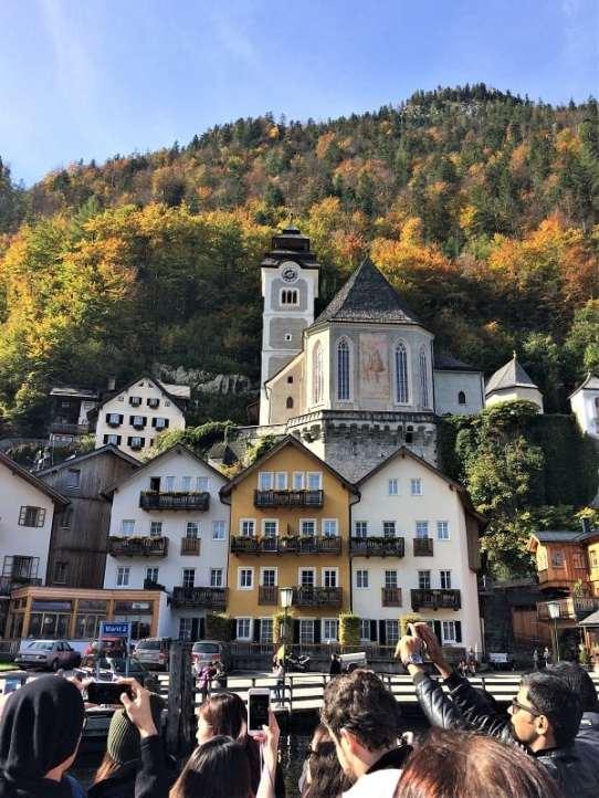 View of Hallstatt from ferry