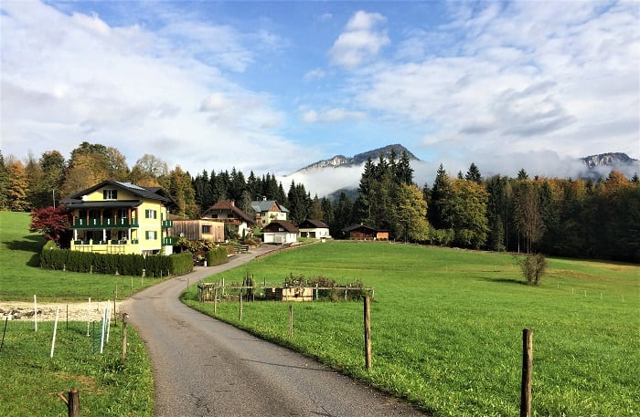 Soleweg trail in Bad Goisern Austria