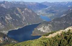 View of Hallstättersee from Dachstein mountains
