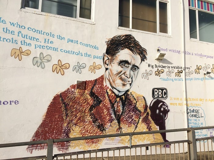 George Orwell mural by Pure Evil, Southwold