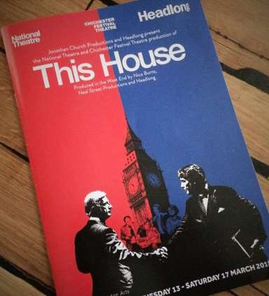 Programme for This House play
