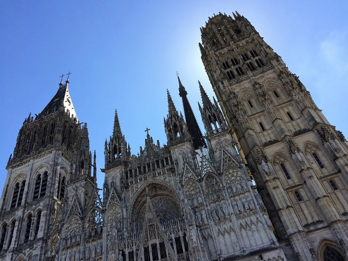 exterior of rouen cathedral