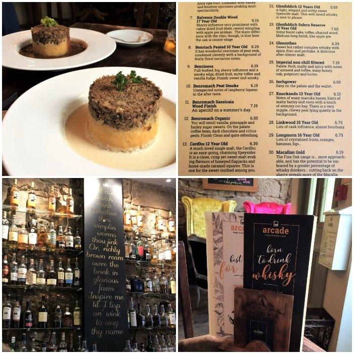 Arcade Haggis and whisky bar in Edinburgh