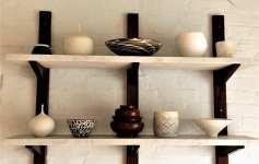 Ceramics on shelf of Five Acre Barn