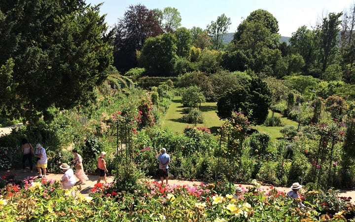 Clos Normand Monet's garden viewed from the house