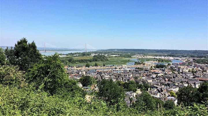 View of Honfleur from Mont Joli