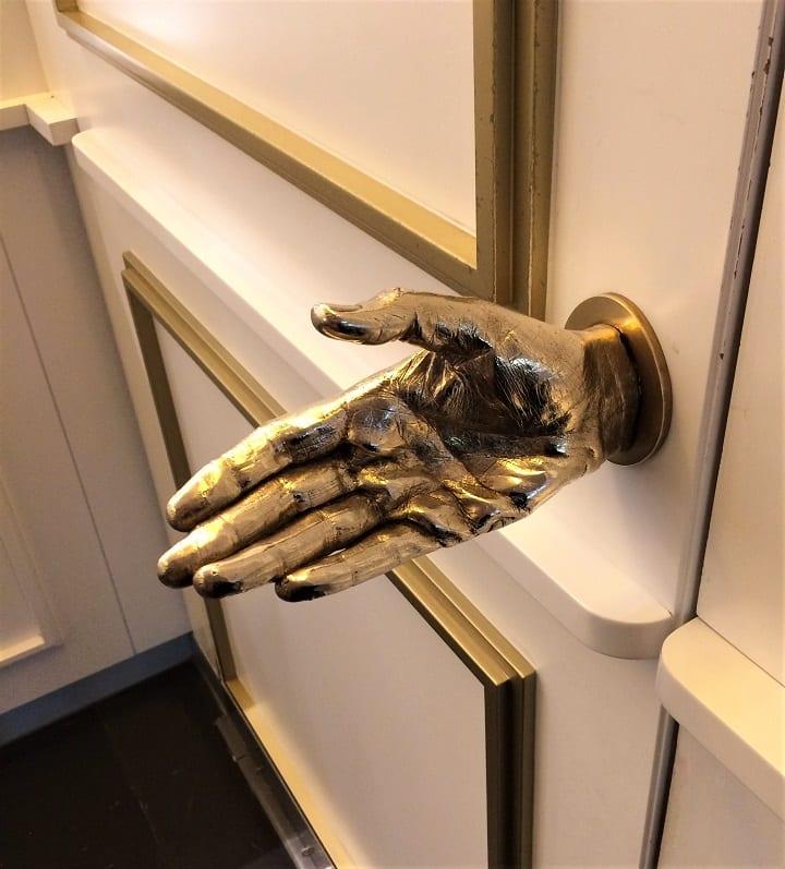 St Martins Lane door handle to Blind Spot