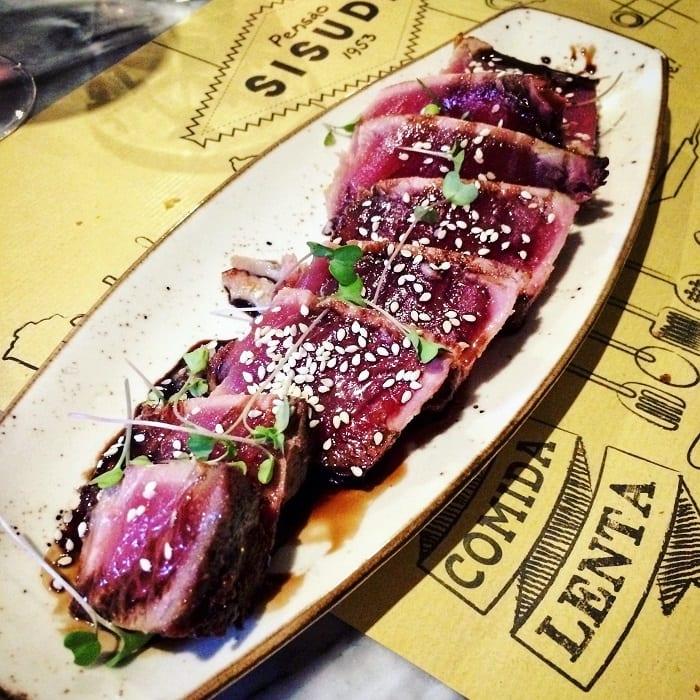 Tuna Tataki at Sisudo restaurant