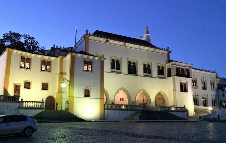 National Palace of Sintra at night