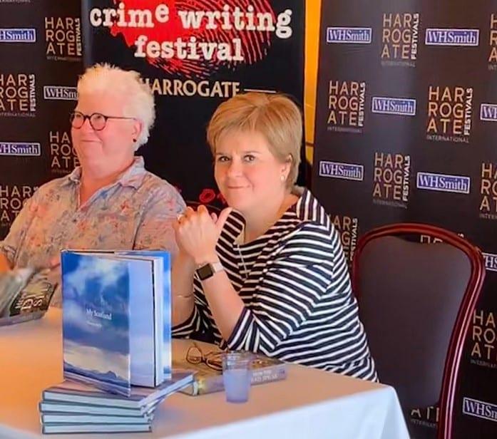 Val McDermid and Nicola Sturgeon