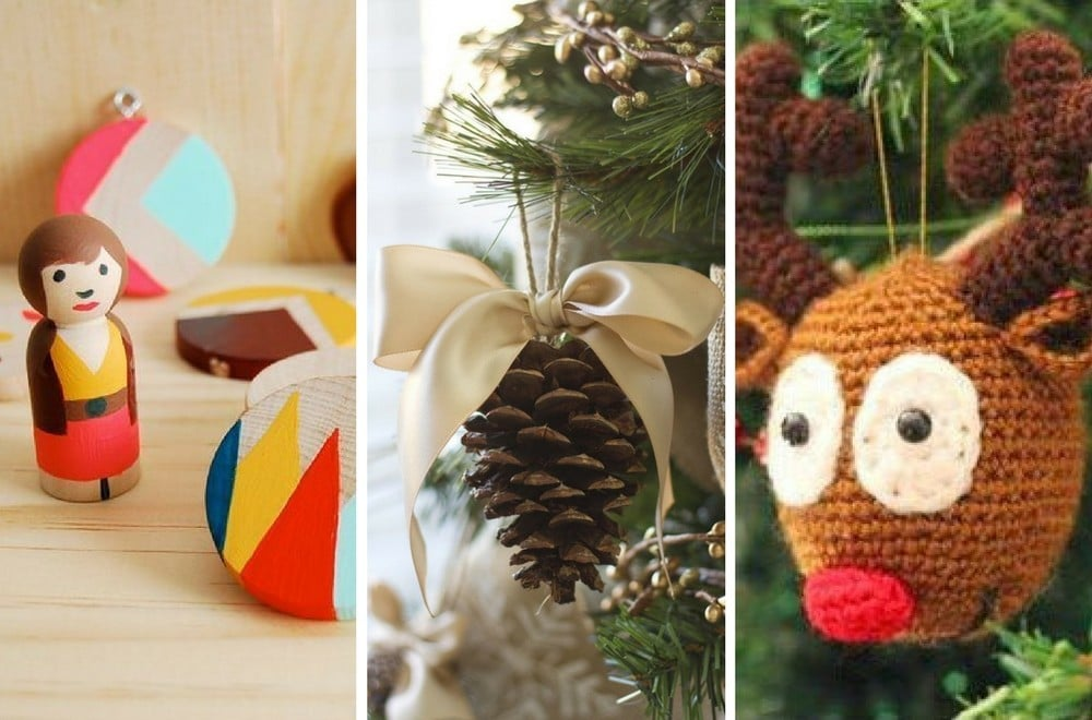 35 of the BEST DIY homemade Christmas decorations to make