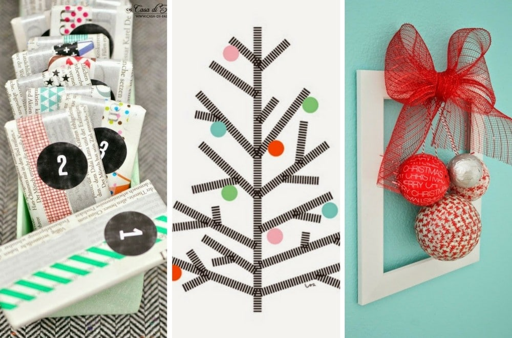 We turn to our curation of Christmas Washi tape ideas time and again for inspiration to create everything from Christmas Washi tape cards to Washi tape wall trees. The craft ideas are all really easy, simple enough even for kids to make them on their own. My favourites are the washi tape Christmas tree decoration made from a cookie cutter and the door wreath. The Washi tape advent calendars are super cool and relatively simple to make.Washi tape Christmas baubles are really striking if you choose your patterns well, you don't have to go with Christmas themed tape, choose a bright coloured Washi tape theme or a sparkly one. Take a look and see what you would like to make. #ChristmasWashiTape