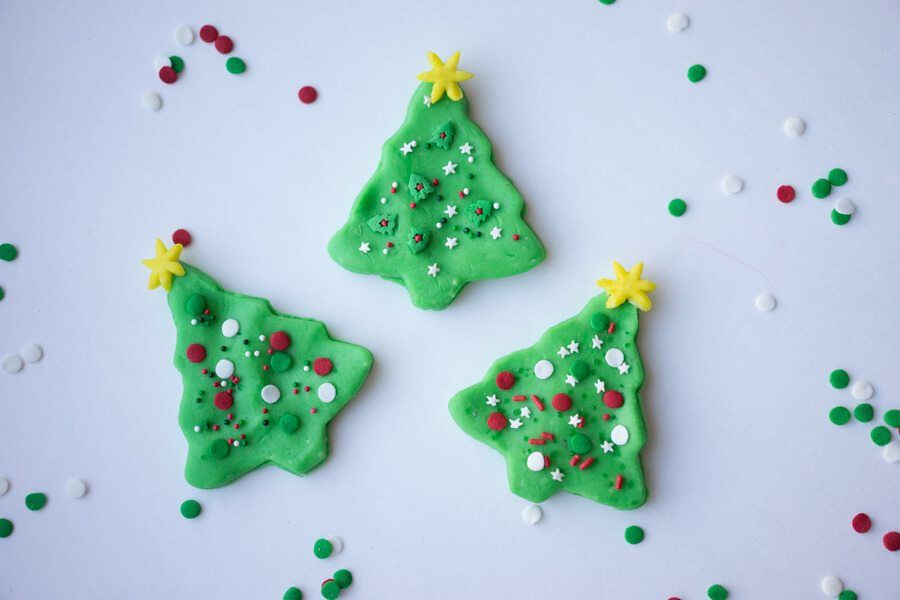 Play dough Christmas trees