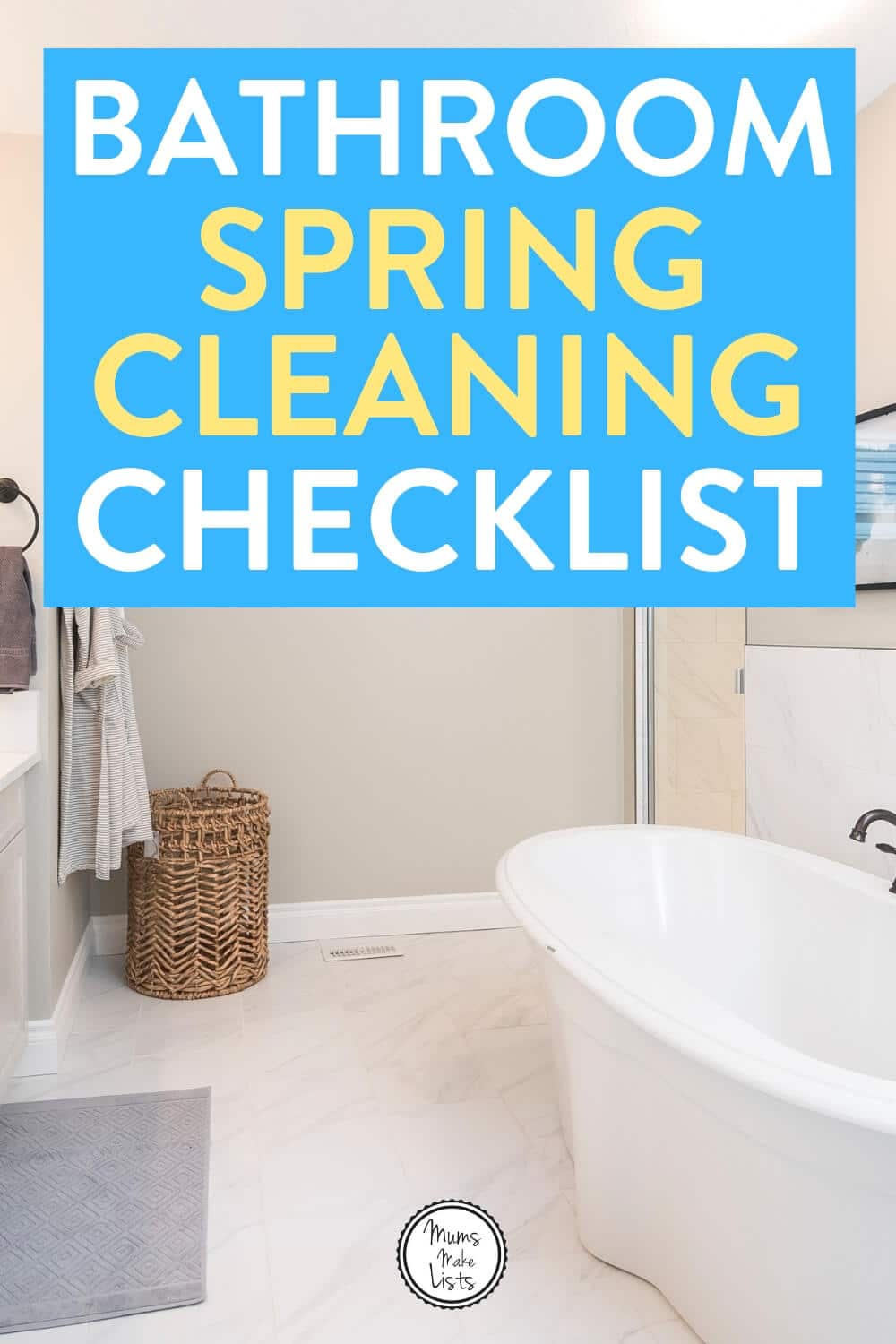bathroom spring cleaning, bathroom spring cleaning checklist, spring cleaning checklist, spring clean, spring cleaning