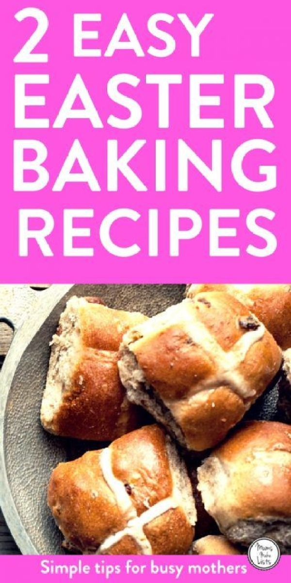 We've posted two delicious Easter baking recipes, both are easy to make. There is a Hot Cross Buns recipe, which simple enough for kids to make and a Simnel cake recipe, which is a traditional Easter cake with dried fruit and marzipan. Bake these recipes and use them as Easter gifts or make Hot Cross Buns for brunch on Good Friday or Easter Sunday.  #Easter #baking #cakes #EasterIdeas #EasterBaking #Cake #hotcrossbuns #recipe #recipeoftheweek