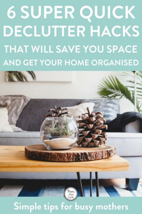 Declutter your home using these 6 quick decluttering tips to make it clutter free. It is important to put some time aside and to declutter, it stops you feeling overwhelmed and gives you more space in your home #Declutter #declutteringtips #declutteringideas #organize #organizedhome
