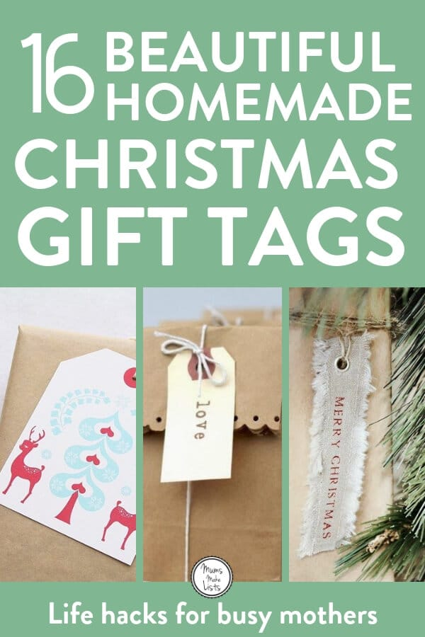 These 16 homemade DIY Gift Tags Are The Gift Equivalent Of The Star On Top Of The Tree! #Christmas #Christmasgifts #ChristmasCrafts