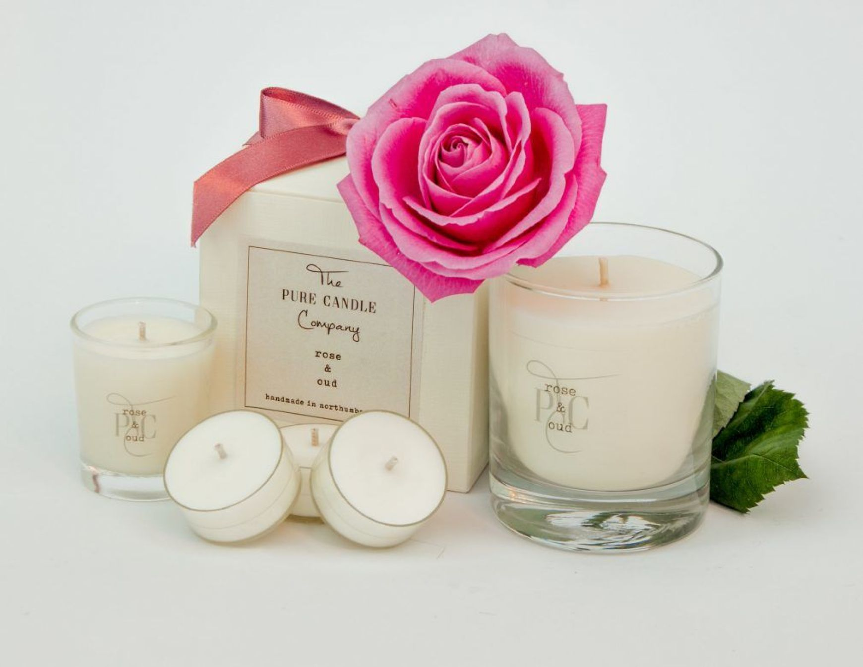 Rose & Oud Candle The Pure Candle Company