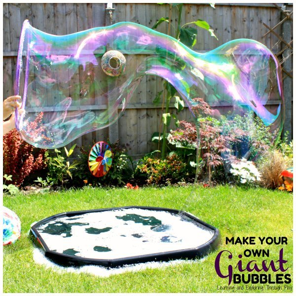 How to make giant bubbles water play activities for kids
