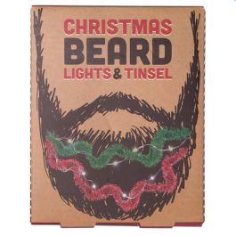Christmas stocking filler ideas, Christmas beard lights and tinsel