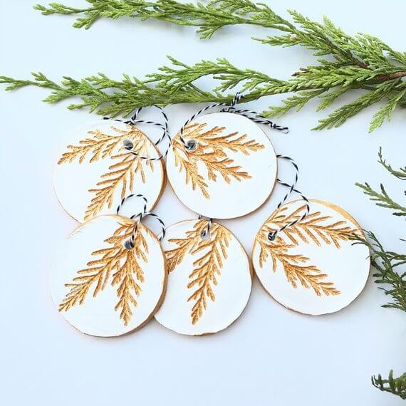 Scandinavian Christmas decorations disc tree decoration