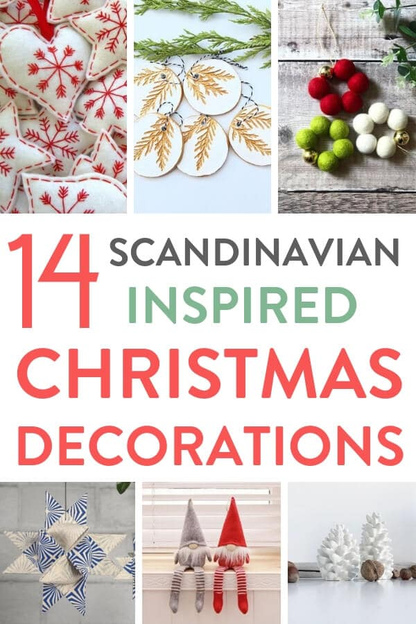 I've loved curating this roundup of 14 beautiful Scandinavian inspired Christmas decorations for the home that you can buy on Etsy this Christmas. There's wooden and felt decorations, lots of white, red and blue and a nod to hygge #Christmas #ChristmasDecor #Christmastree #Christmasdecorationideas #Xmas #Xmastreedecorations #Xmasdecorations #Xmasornaments #Etsy #EtsyChristmas