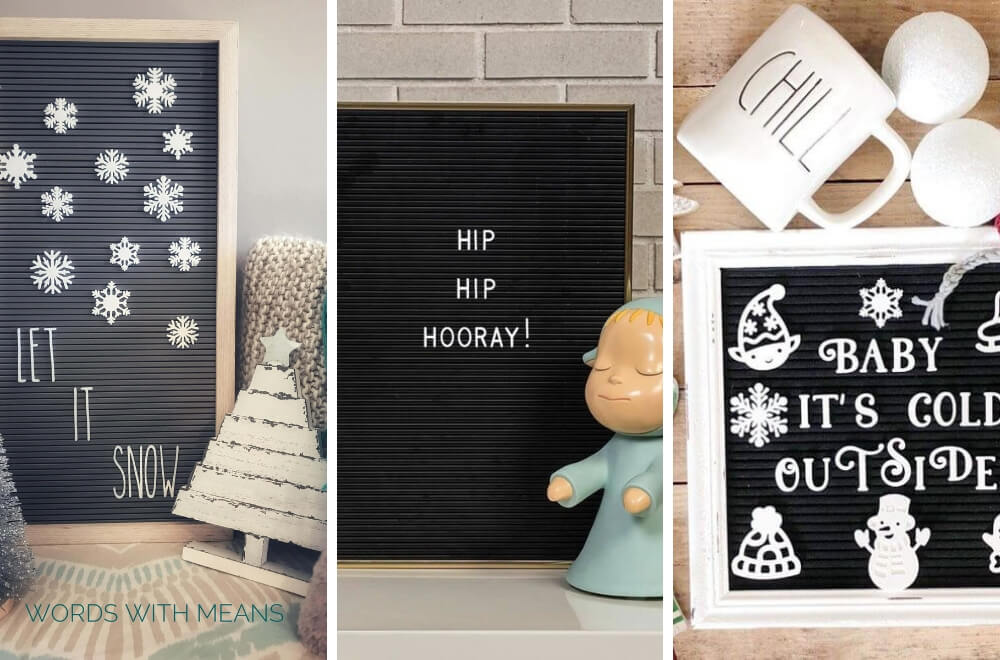 Christmas Letter Boards