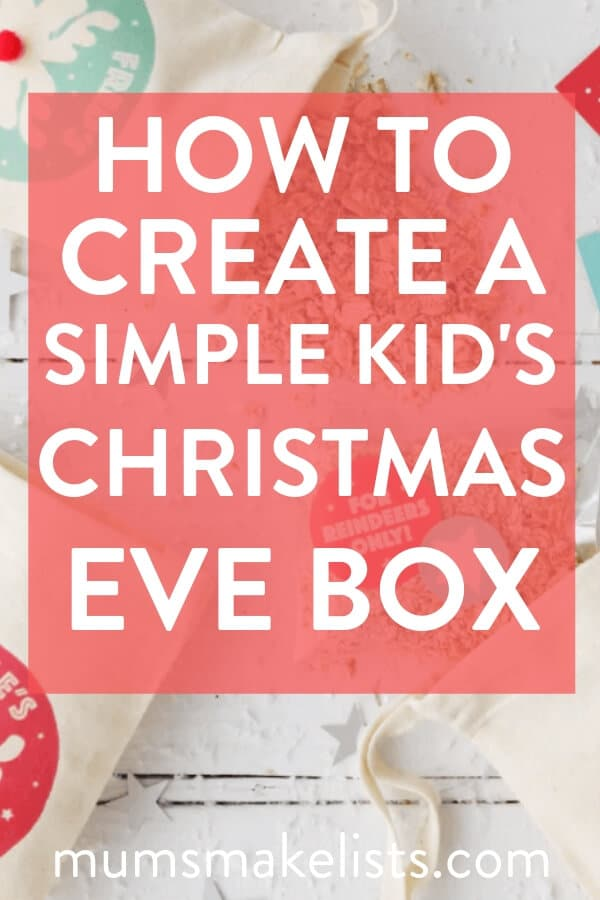 How to put together a really simple Christmas Eve box for kids