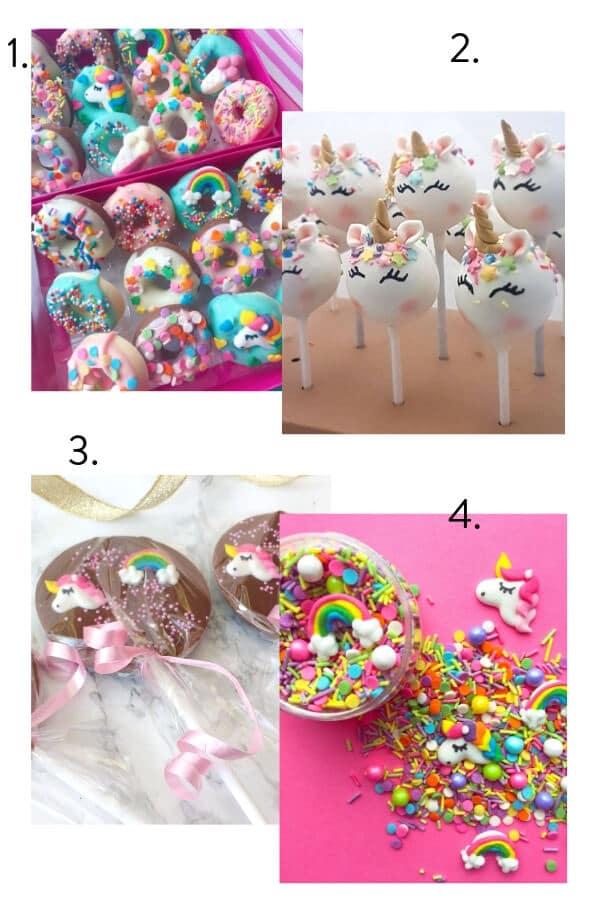 Unicorn theme food, unicorn theme kids party