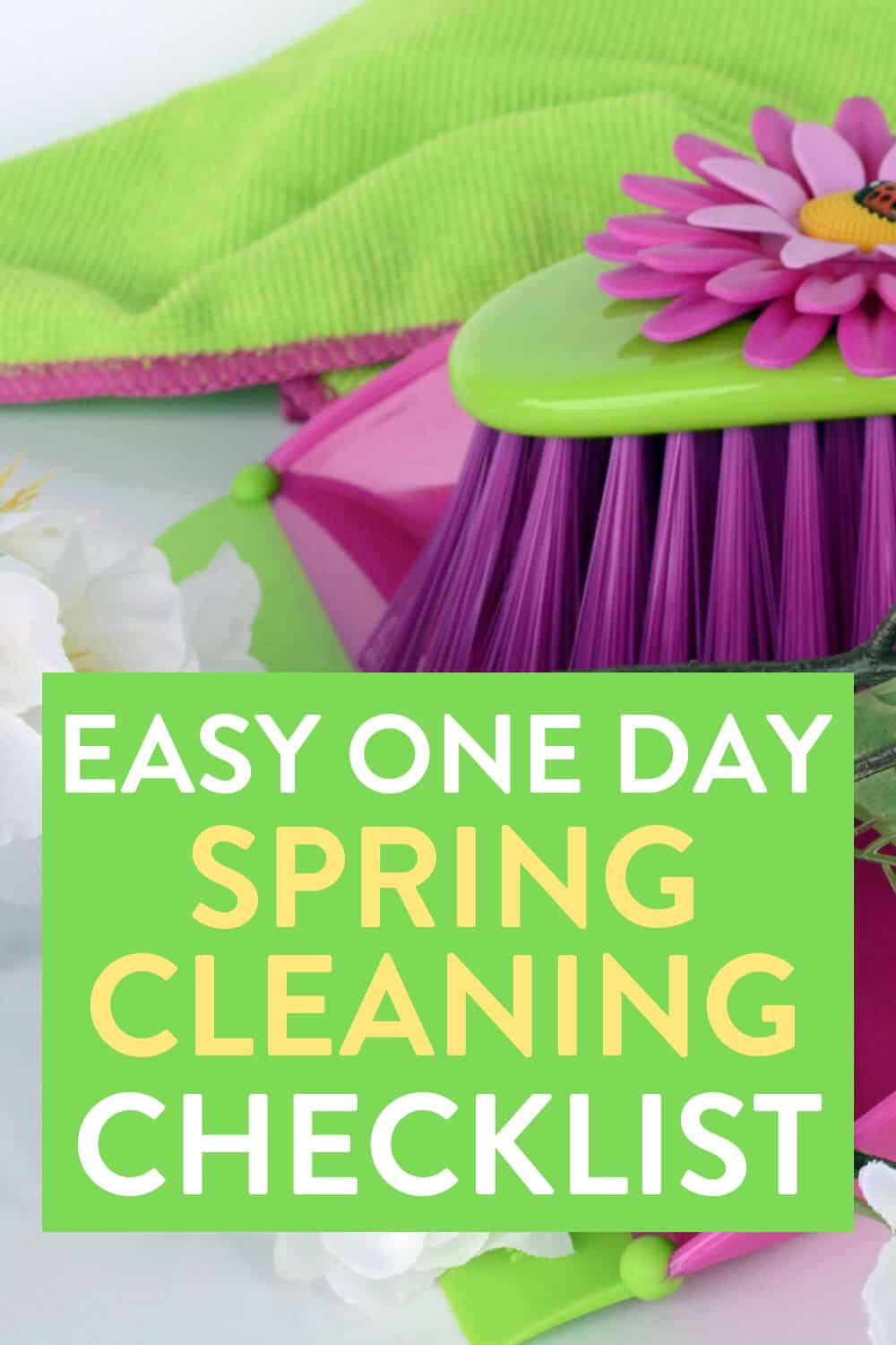 spring cleaning, spring cleaning checklist, easy spring cleaning, one day spring cleaning