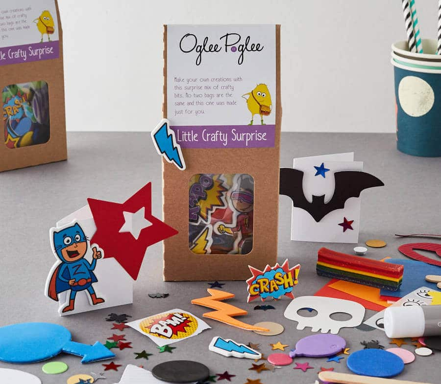Kids party bag ideas, kids craft party bag, Oglee Poglee craft party bag