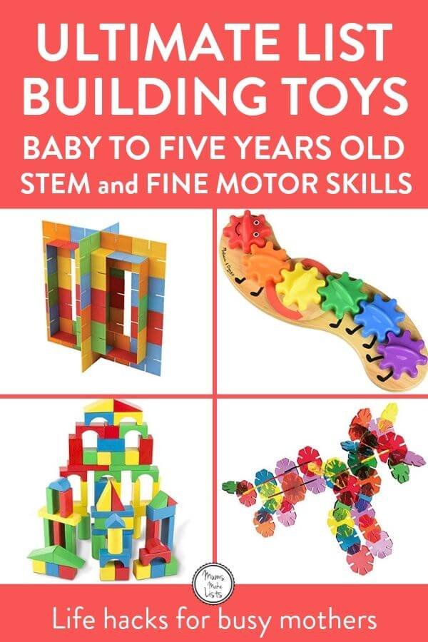Building toys for kids, list of building toys, construction toys, STEM toys for babies, STEM toys for toddlers, STEM toys for pre-schoolers