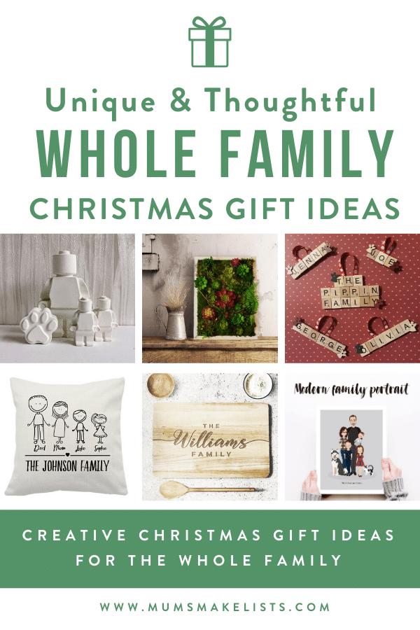 Unique family gift ideas, whole family gift ideas, personalised family gift ideas, unusual family gift ideas