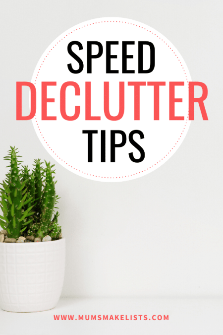tips to speed up decluttering your home, decluttering tips that actually work, how to plan a declutter