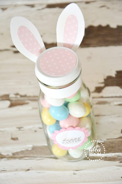 Easter Mason Jar With Bunny Ears Gift Idea and Tutorial